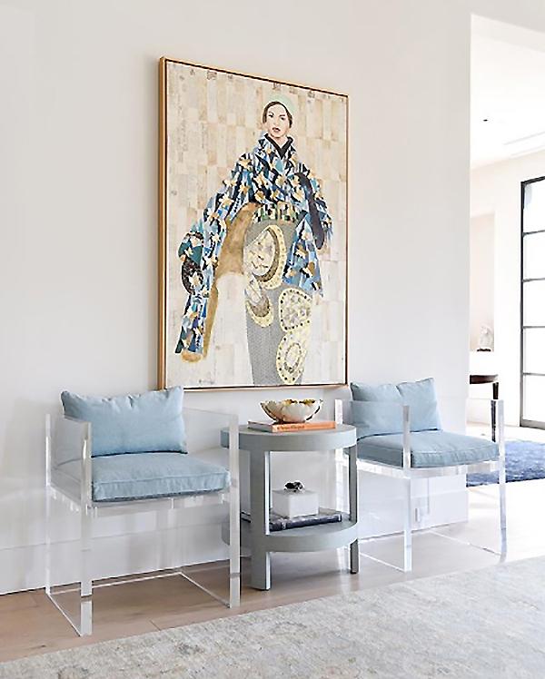 Artist spotlight brenda bogart video feature interiors for Blue print store dallas